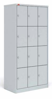 Трехсекционный металлический шкаф для сумок ШРМ - 312