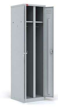 Двухсекционный металлический шкаф для одежды ШРМ - 22