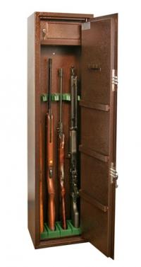 Оружейный сейф на 4 ружья КО - 033т