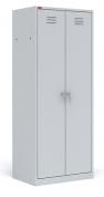 Двухсекционный металлический шкаф для одежды ШРМ - АК
